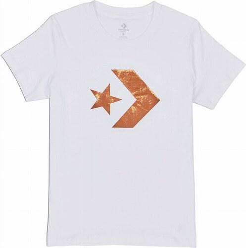 a5f0ff575ba Dámské tričko Converse Converse Star Chevron Metallic Crew Tee L white