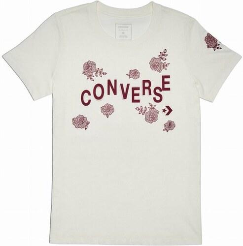 5aa6938e281b Dámské tričko Converse Converse Floral Crew Tee M egret - Glami.cz