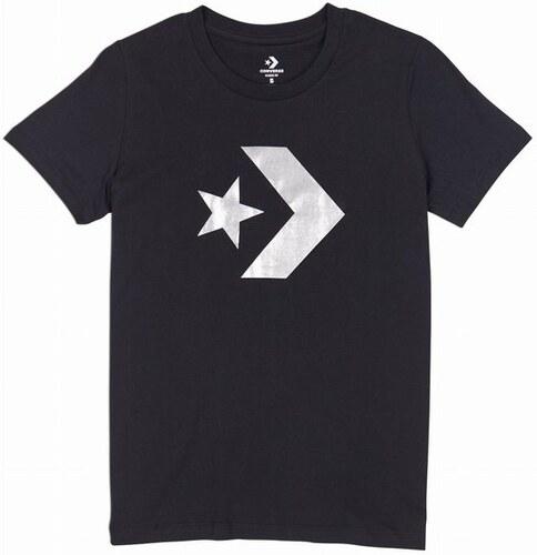 Dámské tričko Converse Converse Star Chevron Metallic Crew Tee L black 70bc21e61e