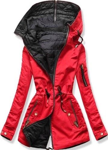 92e6bbca5a Butikmoda Kifordítható parka kabát - piros és fekete színű - Glami.hu