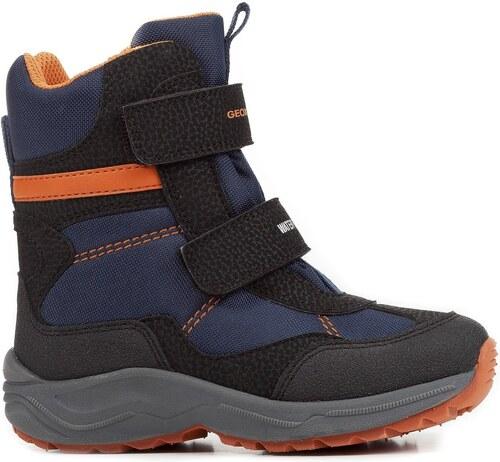 Geox Chlapčenské zimné topánky New Alaska - modré - Glami.sk a387c524ac5