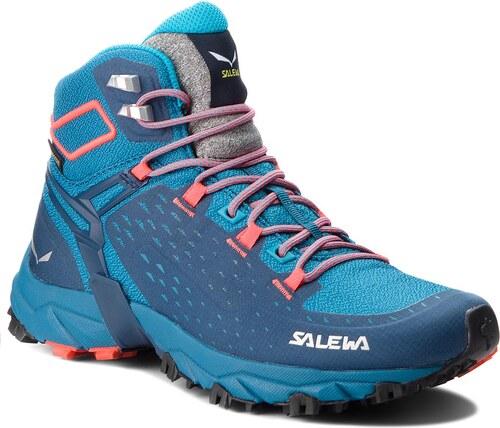 Trekingová obuv SALEWA - Alpenrose Ultra Mid Gtx GORE-TEX 64417-8363 Blue  Sapphire Fluo Coral 1c0ebc55ab0