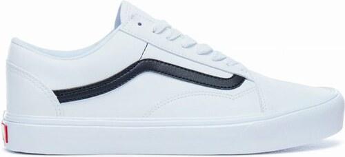 -31% Pánské boty Vans OLD SKOOL LITE (CLASSIC TUMBLE) WHITE BLACK 46 34cf68e116