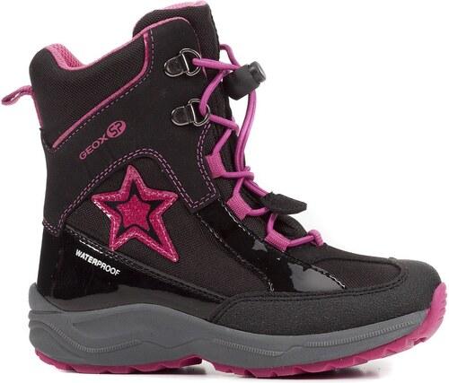 171f3440874f Geox Dievčenské zimné topánky New Alaska - čierne - Glami.sk