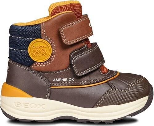 d051b87c5 Geox Chlapčenské zimné topánky New Gulp - hnedé - Glami.sk