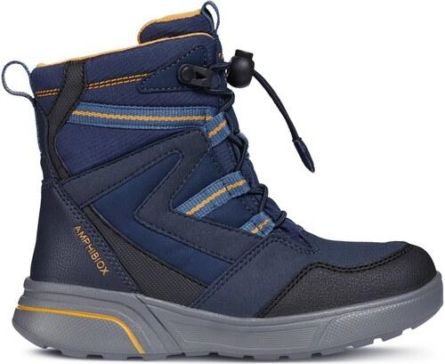 Geox Chlapčenské zimné topánky Sveggen - modré - Glami.sk f3336581c9c
