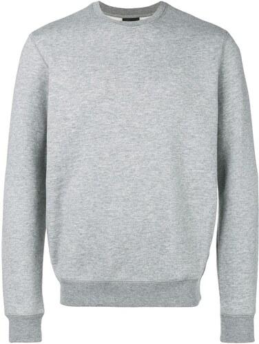 Emporio Armani crew neck sweatshirt - Grey - Glami.cz 06d88a539e