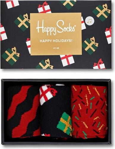 7f9ee7f8d31 Happy Socks vánoční ponožky XMAS v hrací krabičce XMAS08-7001 DÁMSKÉ ...