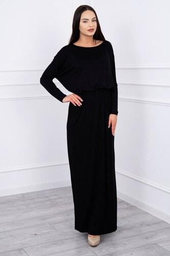 7a413b5de067 MladaModa Dlhé koktejlové šaty model 62250 čierne - Glami.sk