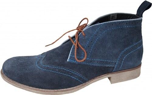 Bugatti pánska jesenná členková obuv - modrá - Glami.sk 925b77e7aa