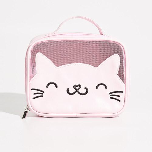 Sinsay - Kozmetická taštička s mačkou - Ružová - Glami.sk dda66b41a89