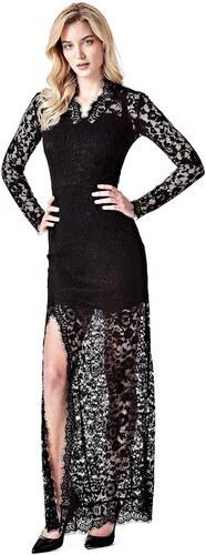 556f4fb43d90 GUESS Zvodné čierne maxi šaty z čipky - Glami.sk