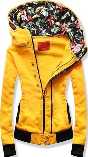 642031bafc MODOVO Női kapucnis pulóver D527 sárga - Glami.hu