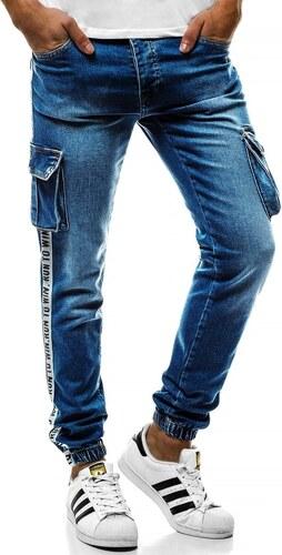 Světle modré JOGGER kalhoty OZONEE OT 2046 7d0eb25a97