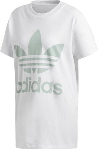 Dámske tričko adidas Originals BIG TREFOIL TEE (Biela   Svetlo zelená) bcd83d37cd4