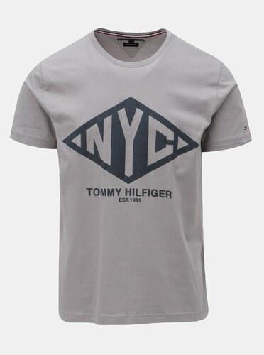 296ca5cbd7e Sivé pánske tričko s potlačou Tommy Hilfiger Shear Tee - Glami.sk