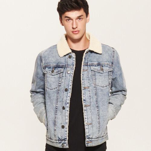 House - Zateplená džínsová bunda - Modrá - Glami.sk bab4a7b8732