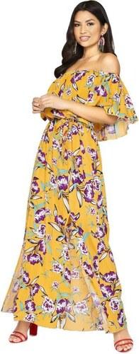 LITTLE MISTRESS Maxi šaty s potlačou a volánom - Glami.sk ede2a651c5e
