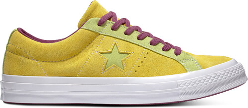 ... Converse žlto-zelené kožené dámske tenisky Chuck Taylor One Star OX  Apple Green Sharp 17be71aa4c