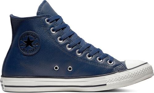 33805ab44dc ... Converse tmavě modré kožené unisex tenisky Chuck Taylor All Star Hi  Navy - 37
