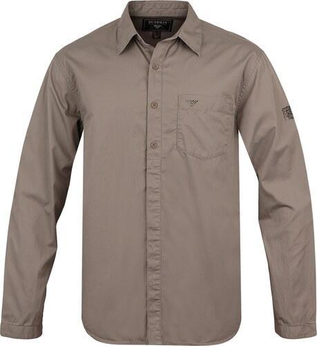 Pánská košile BUSHMAN PELHAM světle hnědá - Glami.cz 727559eeeb