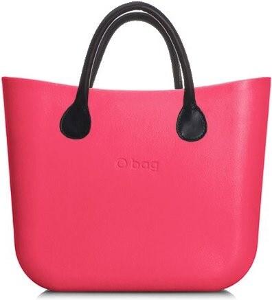 O bag kabelka MINI Amaranto s černými krátkými koženkovými držadly ... 05e2461e675
