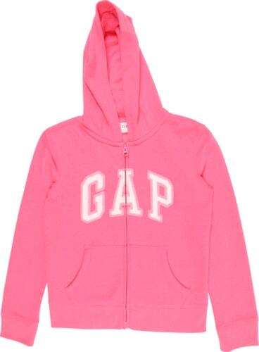 8dde9ac863 GAP Mikina s kapucí pink   bílá - Glami.cz