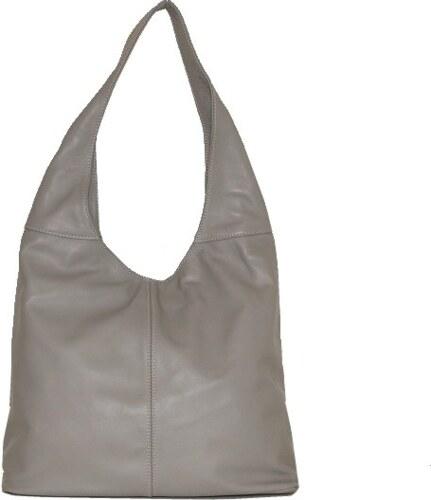 TALIANSKE Kožená kabelka na plece veľká Talianska sivá Adel fc867ca8ba0