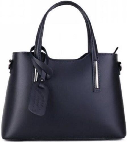 Talianske kožené kabelky luxusné na rameno Carina modré - Glami.sk 8277109b135