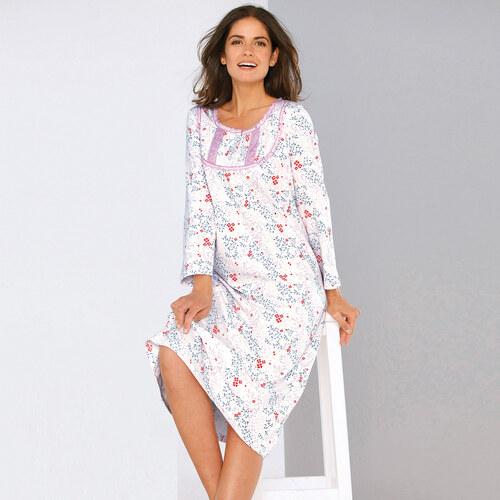 60461aa14 VENCA Nočná košeľa s potlačou a čipkou potlač S - Glami.sk