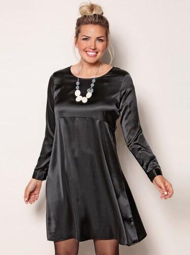 Venca Jednobarevné šaty s dlouhými rukávy černá - Glami.cz 152645724c