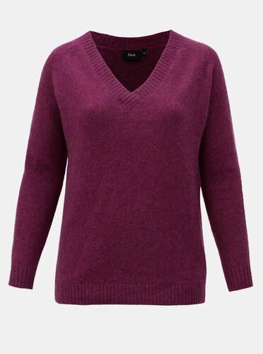 4e61524ea998 Fialový sveter s prímesou vlny Zizzi Camilla - Glami.sk