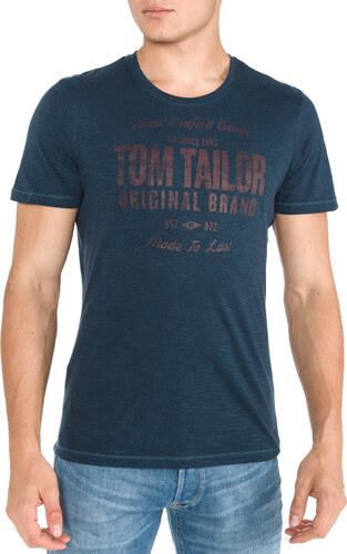 Tom Tailor Tričko Modrá - Glami.sk 0376f3d581