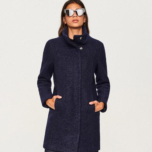 Reserved - Vlnený kabát - Tmavomodrá d01d71b09d2