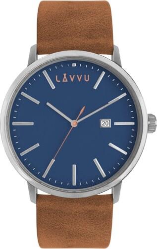 098a04c2ac4 Modro-hnědé pánské hodinky LAVVU COPENHAGEN FIRST CLASS - Glami.cz