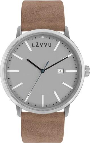 Pískově šedé pánské hodinky LAVVU COPENHAGEN COAST - Glami.cz f46f2d542b