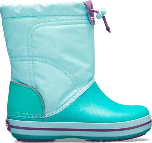 ... Crocs tyrkysové sněhule Crocband Lodgepoint Boot Ice Blue Tropical Teal  - C8 5f16a5afcb