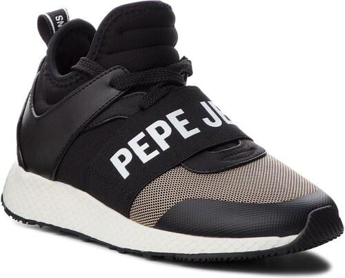 Sneakersy PEPE JEANS - Koko Logo PLS30741 Black 999 - Glami.cz 67888102a50
