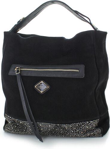 Carmela Čierna kožená kabelka 86038 - Glami.sk 6fbc3accb01