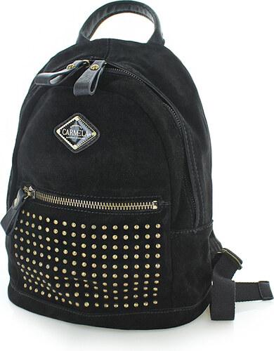 2a5012f55cc Carmela Černý kožený batoh 86044 - Glami.cz