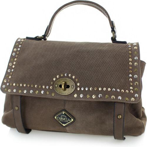 Carmela Hnedá kožená kabelka 86043 - Glami.sk 071984216d5