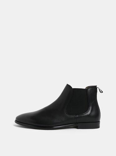 a2edf7420e32e Čierne pánske kožené chelsea topánky ALDO - Glami.sk