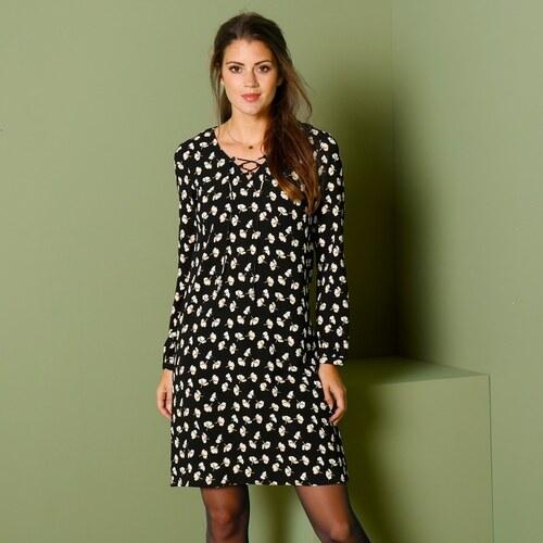 Blancheporte Šaty so šnurovaním čierna biela - Glami.sk 5a04ad6bd2b