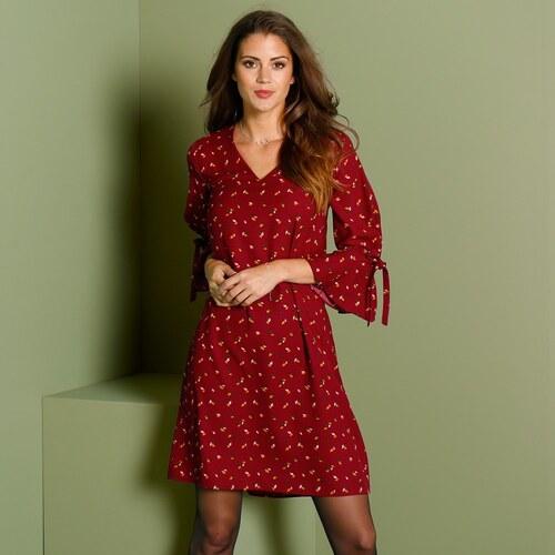 32989538a0a5 Blancheporte Šaty s jemným kvetinovým vzorom bordó - Glami.sk