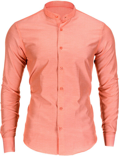 5cdadff2763d Ombre Clothing Pánska slim fit košeľa Rafael oranžová - Glami.sk