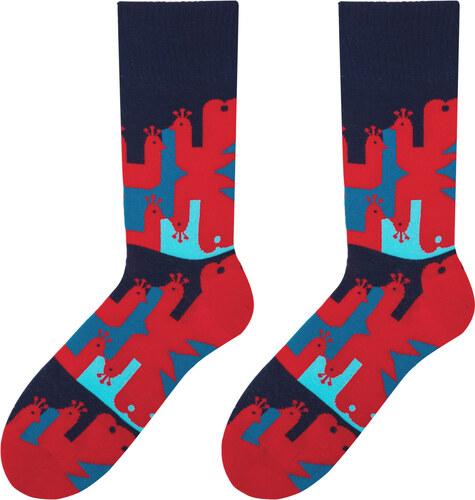 90d18a83024 More Fashion Veselé pánské ponožky Peacock červené - Glami.cz