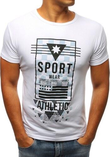 Dstreet Bílé moderní tričko SPORT - Glami.cz 18d0e41c01