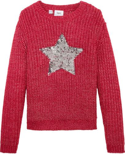 Bonprix Kötött pulóver megfordítható flitterekkel - Glami.hu def635dff0