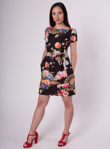 MS.STATION Čierne kvetované šaty s vreckami - Glami.sk afecad01286