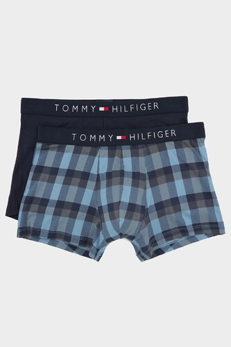 2x Boxerky Tommy Hilfiger Icon Kostkované   Navy - Glami.cz 9a2a539e217